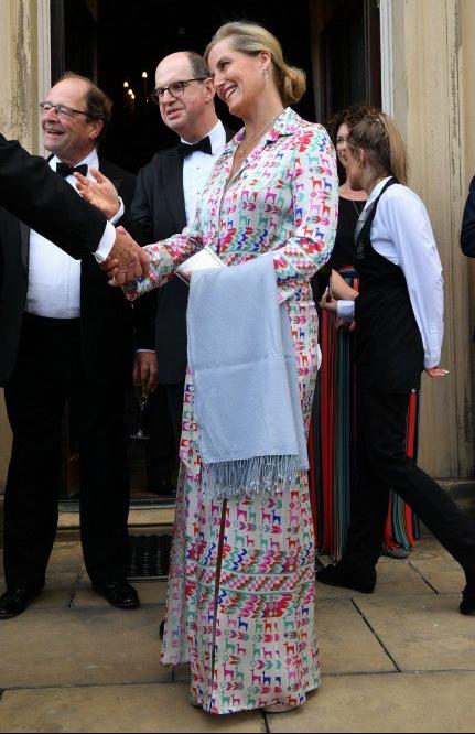 cedfe6b5ab9a La Contessa di Wessex è a Leeds e partecipa a un ricevimento benefico. Per  l occasione indossa un abito che riporta alla mente gli chemisier tanto  popolari ...