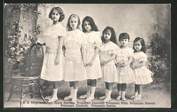 sei principesse lussemburghesi