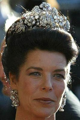 caroline hanover floral tiara