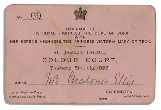 george mary wedding invitation