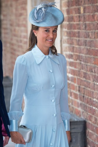 7/9/2018 - Pippa Middleton arriving for the christening of Prince Louis, the youngest son of the Duke and Duchess of Cambridge at the Chapel Royal, St James's Palace, London. (Photo by PA Images/Sipa USA) *** US Rights Only ***
