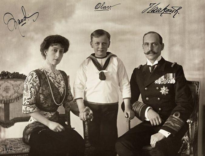 Haakon VII e fam