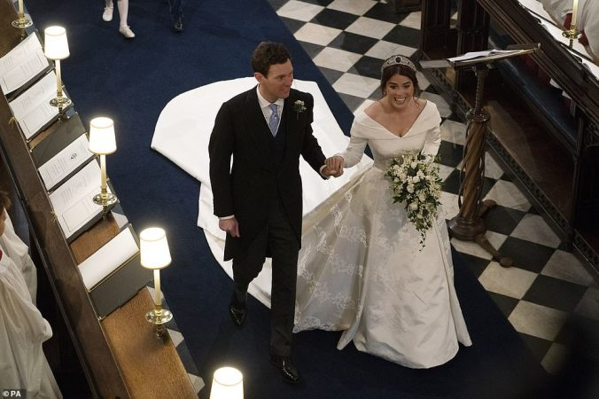 eugenie wedding dall'alto