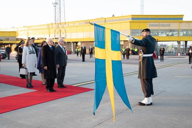 Mattarella Svezia commiato