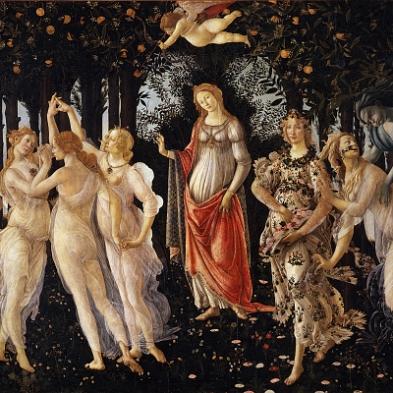 primavera botticelli figure centrali