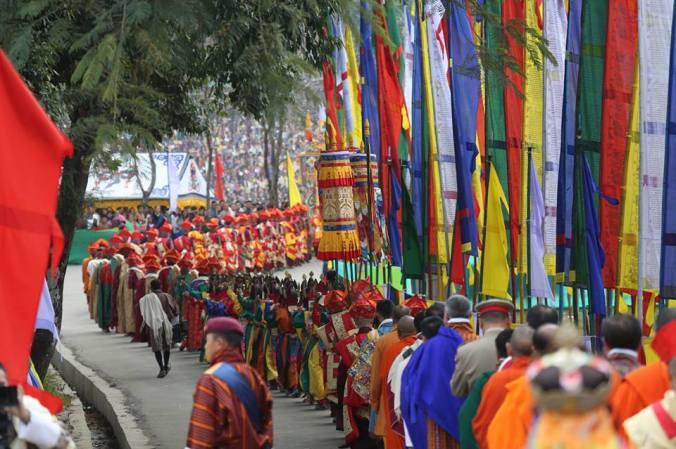 festa bhutan la processione chipdrel