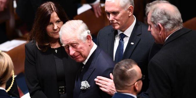 prince charles bush funeral