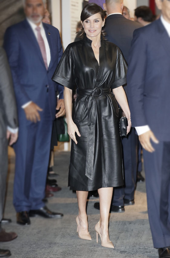 letizia leather kimono