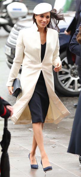 meghan white coat