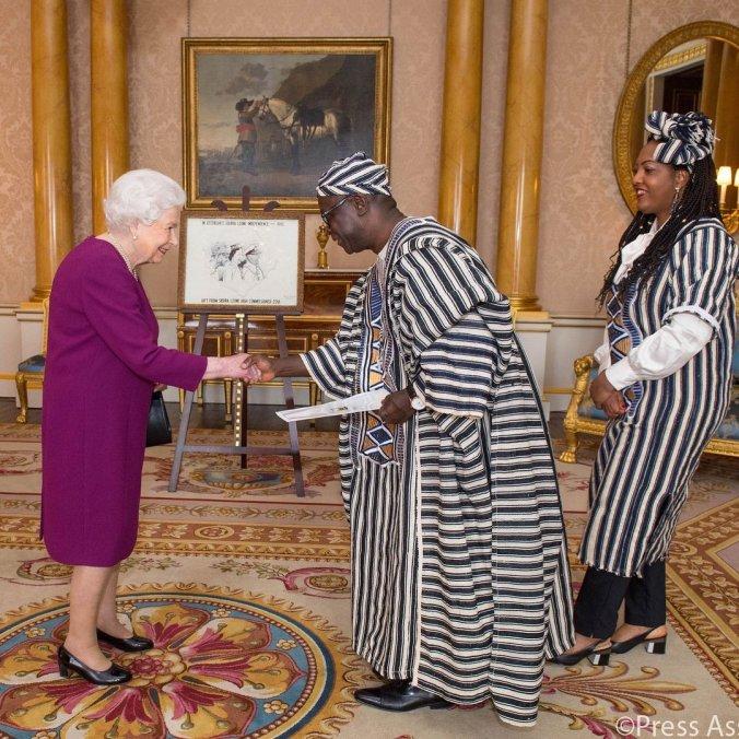queen + ambassador sierra leone