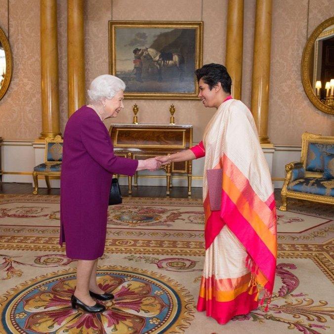 queen + ambassador sri lanka