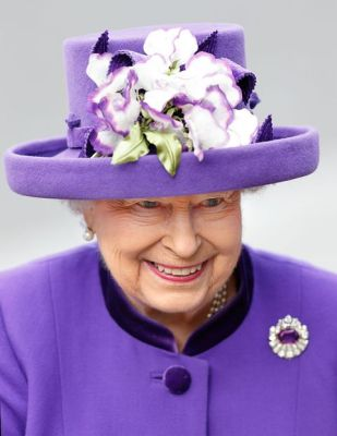 queen in purple-white