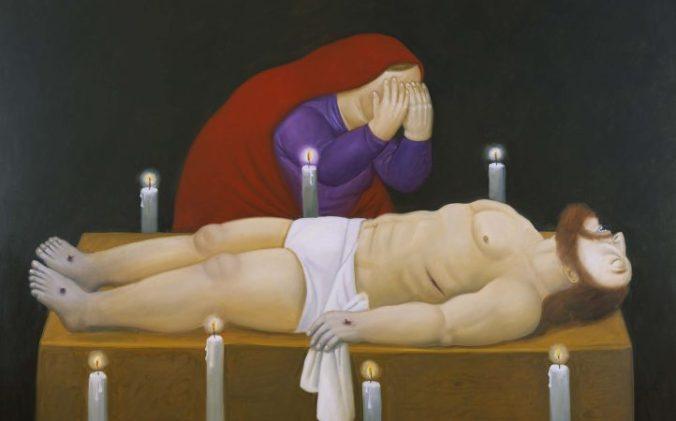 Botero Cristo ha muerto