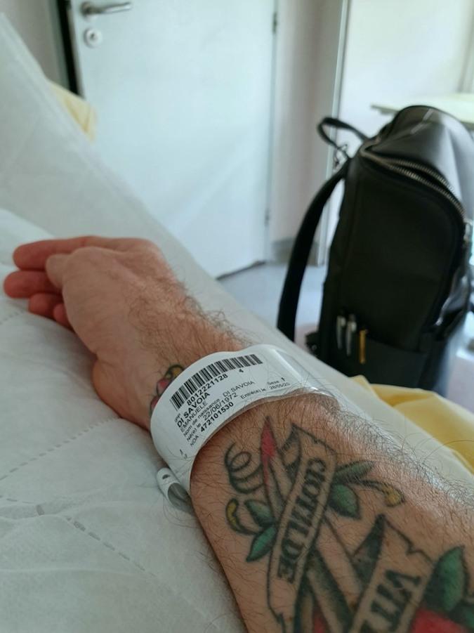 emanuele filiberto ospedale