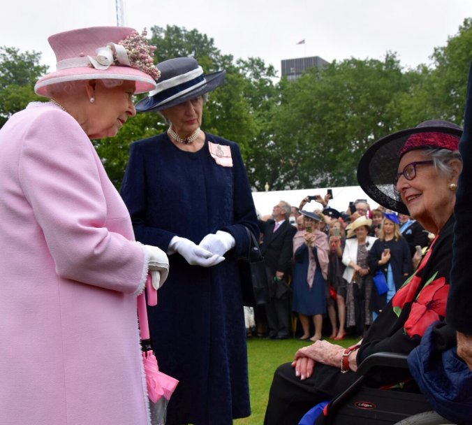 queen & Margaret Baxter garden party