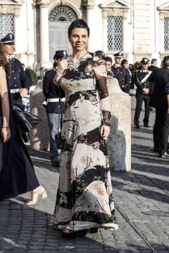 Geppi Cucciari arriva al Quirinale per concerto e ricevimento per la festa della Repubblica , Roma 1 giugno 2019. ANSA/GIUSEPPE LAMI