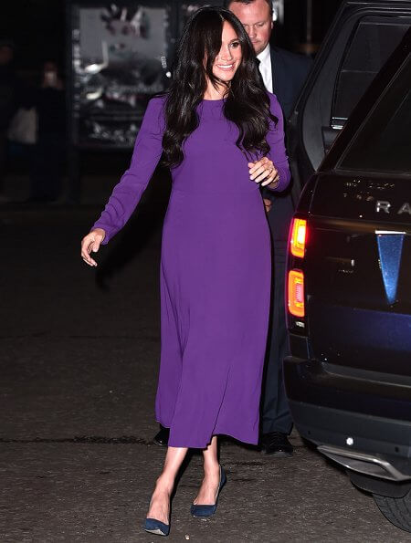 Meghan in purple
