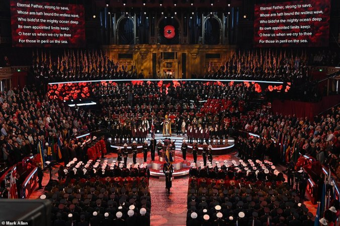 remembrance 19 royal albert hall stage