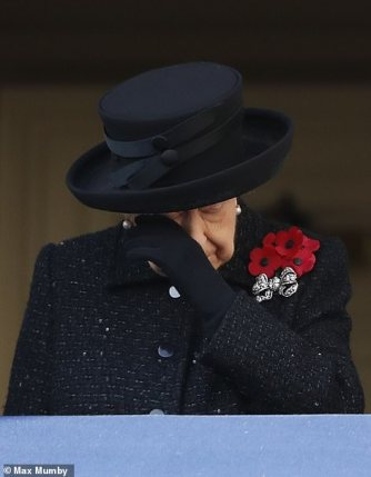 remembrance sunday 2019 queen tears 2