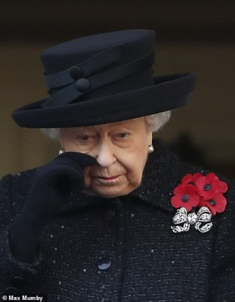 remembrance sunday 2019 queen tears
