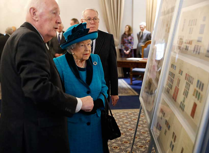 the queen royal philatelic society