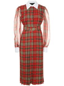 emilia wickstead red tartan dress