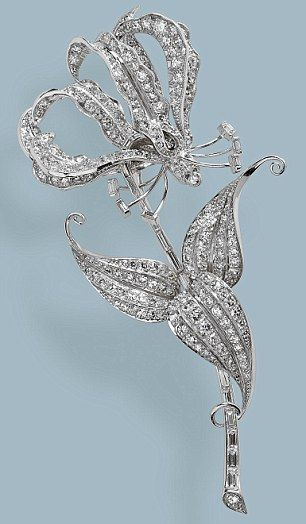 brooch rhodesian flame lily