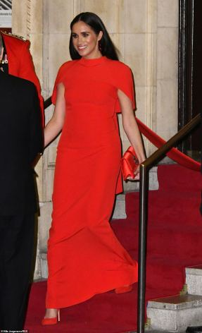 meghan in red
