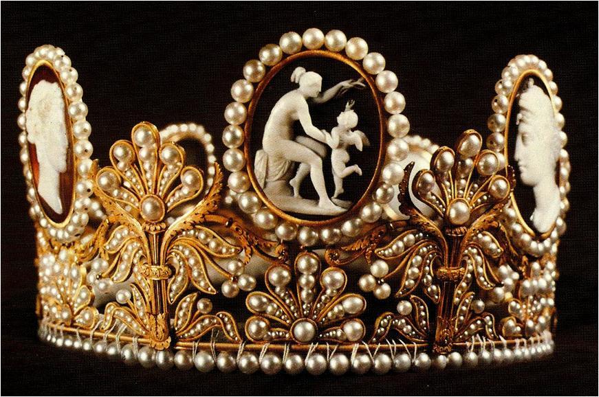 cameo tiara
