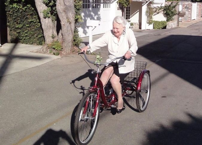 olivia de havilland biking