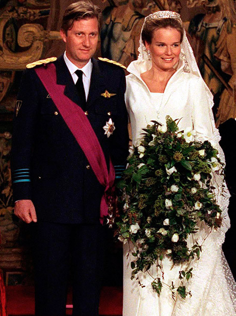 belgium royal wedding bouquet