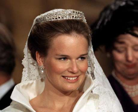 belgium royal wedding tiara